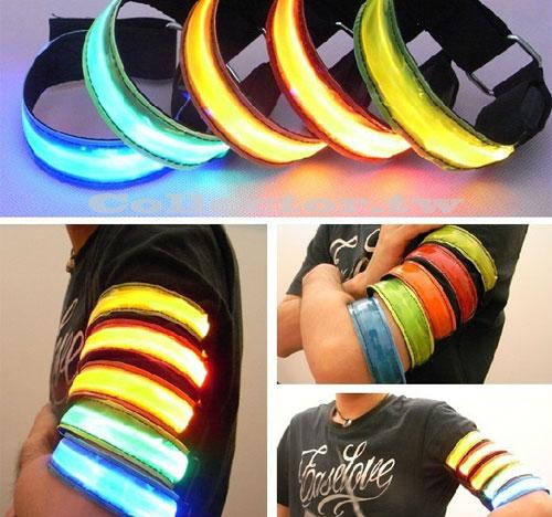 【I13090301】發光LED手臂帶 騎車溜冰休閒必備腕帶 夜間安全必備