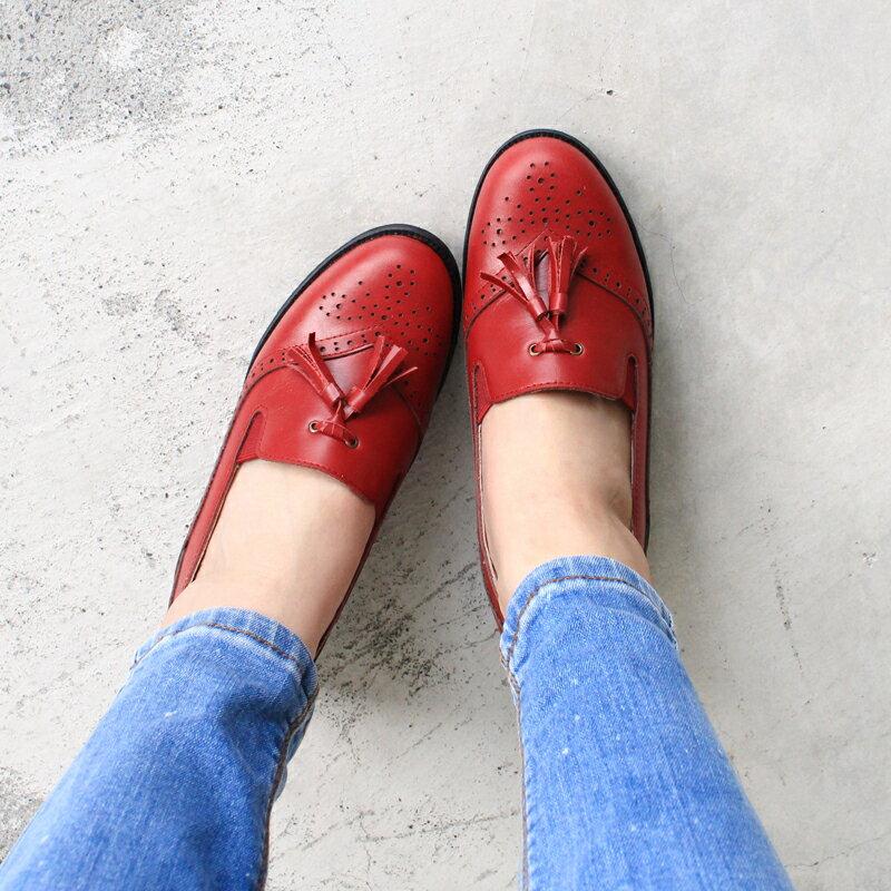 【P2-17102L】真皮雕花粗跟牛津鞋_Shoes Party 3