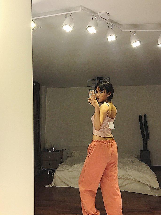 FINDSENSE G6 韓國時尚 街頭運動跑步寬鬆休閒哈倫褲高腰褲子九分褲女褲