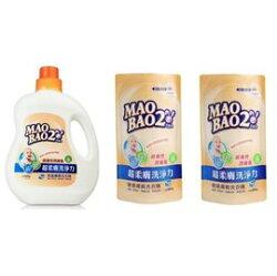【1罐2補超值組】毛寶兔 超柔膚敏感膚質洗衣精 1000g+800g 補充包*2【紫貝殼】