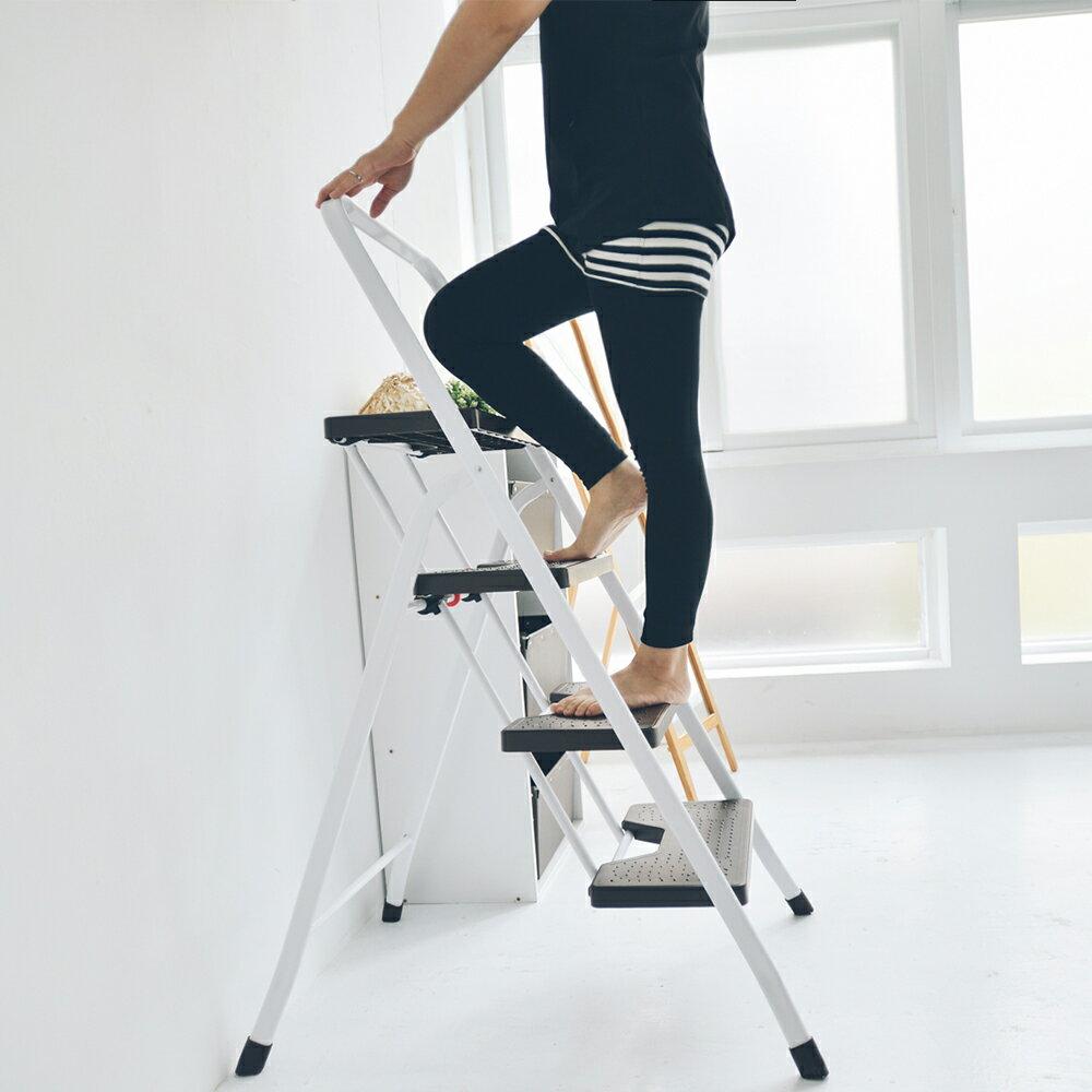 馬椅梯/A字梯 三層折疊家用梯/樓梯椅 MIT台灣製 完美主義【R0050】