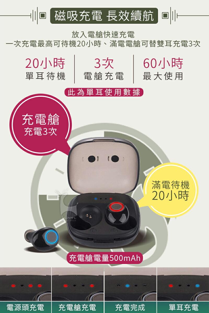 【公司貨】K11 防汗防水 5.0無線藍牙耳機 方盒運動藍芽耳機 聽音樂LINE通話 語音控制 雙耳獨立使用 磁吸充電盒 3