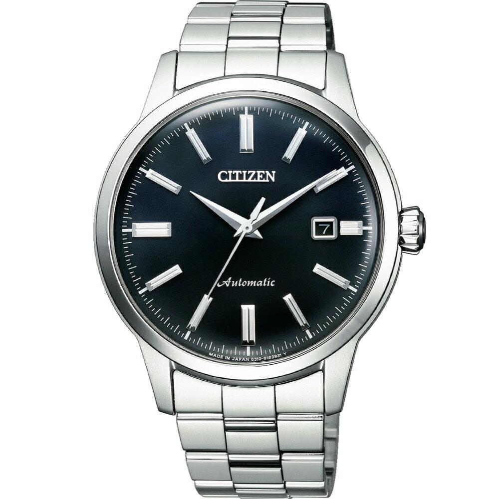 清水鐘錶 CITIZEN 星辰 NK0000-95E Mechanical簡約俐落時尚質感機械腕錶 黑 41mm