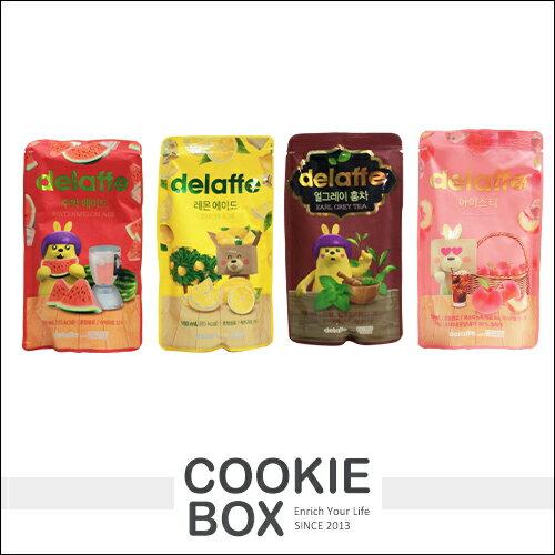 韓國 Delaffe GS 飲料 西瓜 檸檬 伯爵 紅茶 蜜桃 GU 果汁 隨身包 附吸管 超商 限定 *餅乾盒子*