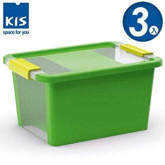 E&J【012012-05】義大利 KIS BI BOX 單開收納箱 S 綠色 3入;收納盒/整理箱/收納櫃/無印風