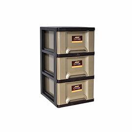 【nicegoods】時代三層收納置物櫃(27公升3層櫃)(收納櫃 抽屜櫃 衣櫃 塑膠 整理箱)