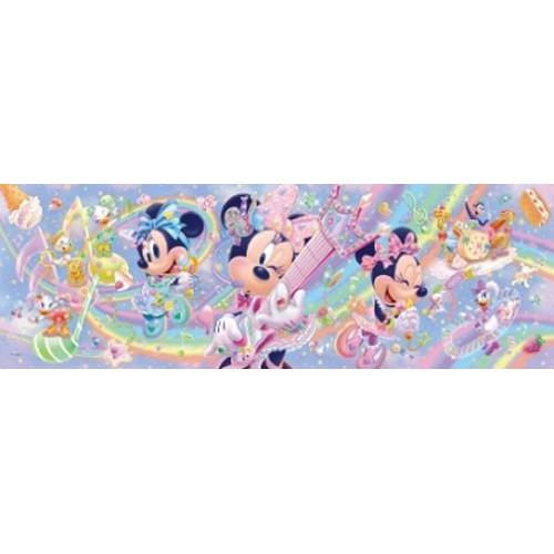 【預購】日本進口正版  迪士尼  米妮 456片拼圖 彩色玻璃 透明壓克力材質 迪斯尼 日本【星野日本玩具】