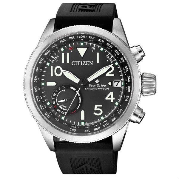 CITIZEN星辰錶CC3060-10EPROMASTER運動型GPS衛星對時光動能腕錶黑面44mm