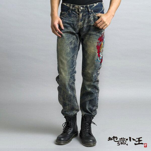 【均一價1580】地藏龍火低腰直筒褲(復古藍)-BLUEWAYJIZO地藏小王