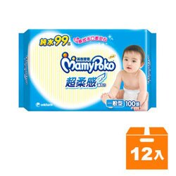 滿意寶寶 純水 超柔感 濕毛巾 一般型 100張x12包/箱