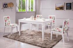 【石川家居】YE-A458-01 安娜鄉村白色4.3尺餐桌 (不含餐椅及其他商品) 台北到高雄搭配車趟免運
