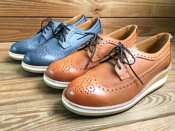 雕花鞋 台灣手工製造真皮厚底雕花皮鞋 文青 上班族 正式場合 LaoMeDea