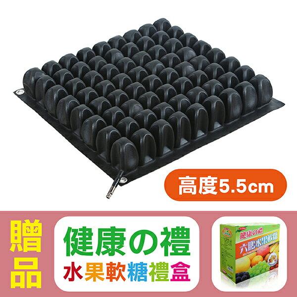 悅發 浮動座墊(未滅菌) 輪椅座墊 氣墊坐墊(高度5.5公分),贈品:六鵬水果軟糖禮盒
