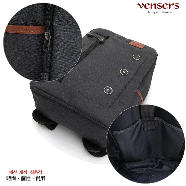【vensers】簡約丹寧牛仔後背包(R00061602黑色) 5