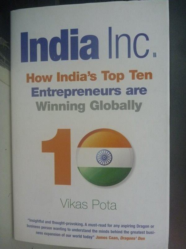 【書寶二手書T7/財經企管_ZCG】India, Inc.: How Indias Top