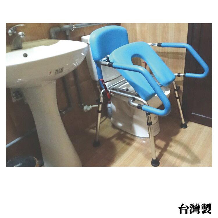 方便推臀椅 - 移動馬桶椅/無輪 可當馬桶扶手 需自行簡易組裝 台灣製 [HT5086L]