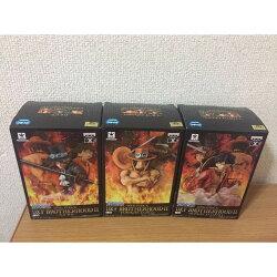 【預購】日本進口金證 艾斯 魯夫  薩波 3兄弟 BROTHERHOOD II ONE PIECE 海賊王【星野日本玩具】