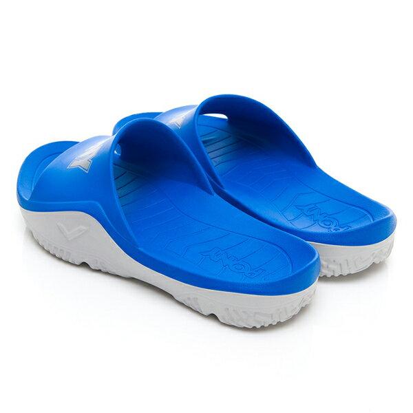《超軟Q防水拖》Shoestw【92U1FL07RB】PONY PARK-X 防水拖鞋 海灘拖鞋 軟Q 拖鞋 寶藍灰 男生尺寸 1