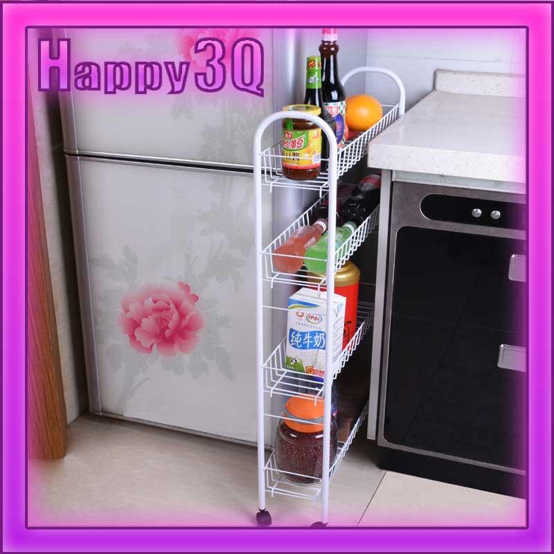客廳浴室廚房可拆卸可移動活動輪組裝狹縫夾縫收納置物架~多尺寸~AAA0642~