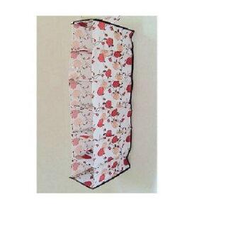 玫瑰花小六層收納袋 掛袋 收納盒 收納袋 置物箱 襪子儲存袋 ☆真愛香水★