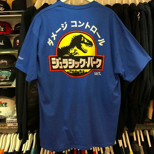 BEETLEBAITXJURASSICPARKTEE聯名侏儸紀公園恐龍日文寶藍色XL