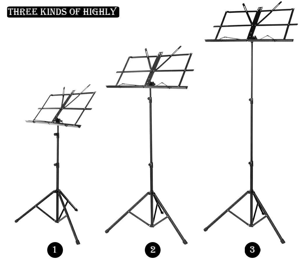 Adjustable Folding Music Stand Metal Sheet Tripod Holder 2