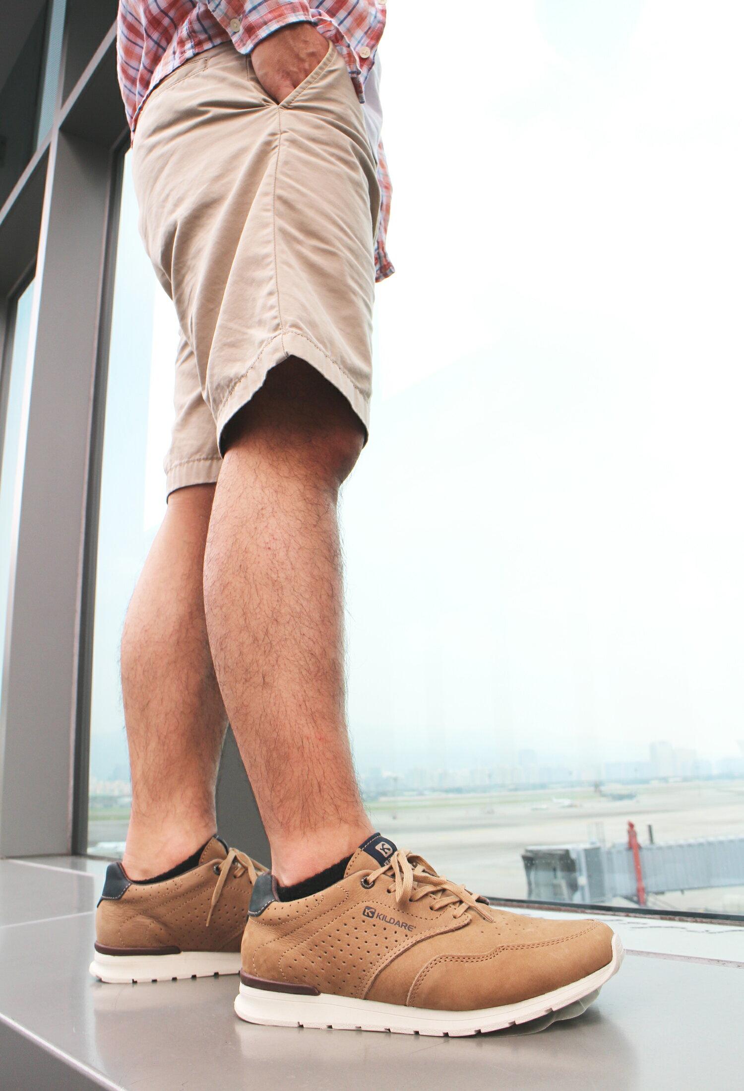 【全店點數15倍送】Kildare 巴西綁帶休閒鞋 淺棕 男 慢跑 6
