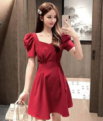 宴會禮服 小個子黑色短款晚禮服女2021夏季新款名媛氣質宴會平時可穿連身裙 摩可美家