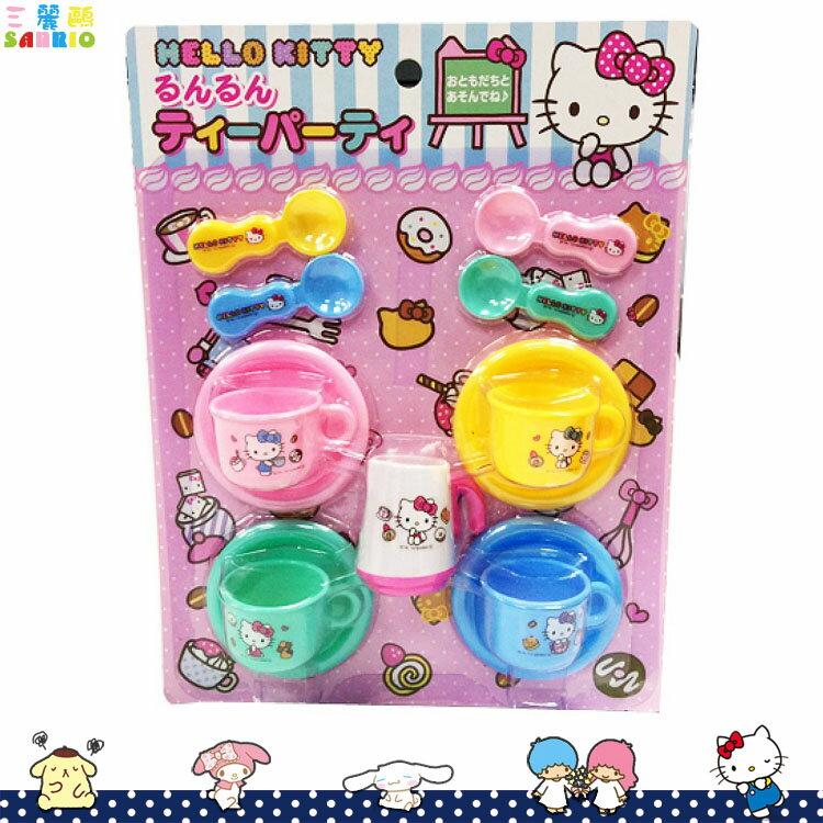 凱蒂貓 Hello Kitty 下午茶玩具 扮家家酒 下午茶 盤子 茶杯 湯匙 茶壺 日本進口正版 095903
