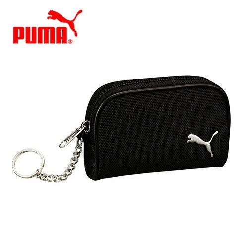 黑色款【日本正版】PUMA 零錢包 卡片包 收納包 附鍊子 防潑水 - 087868