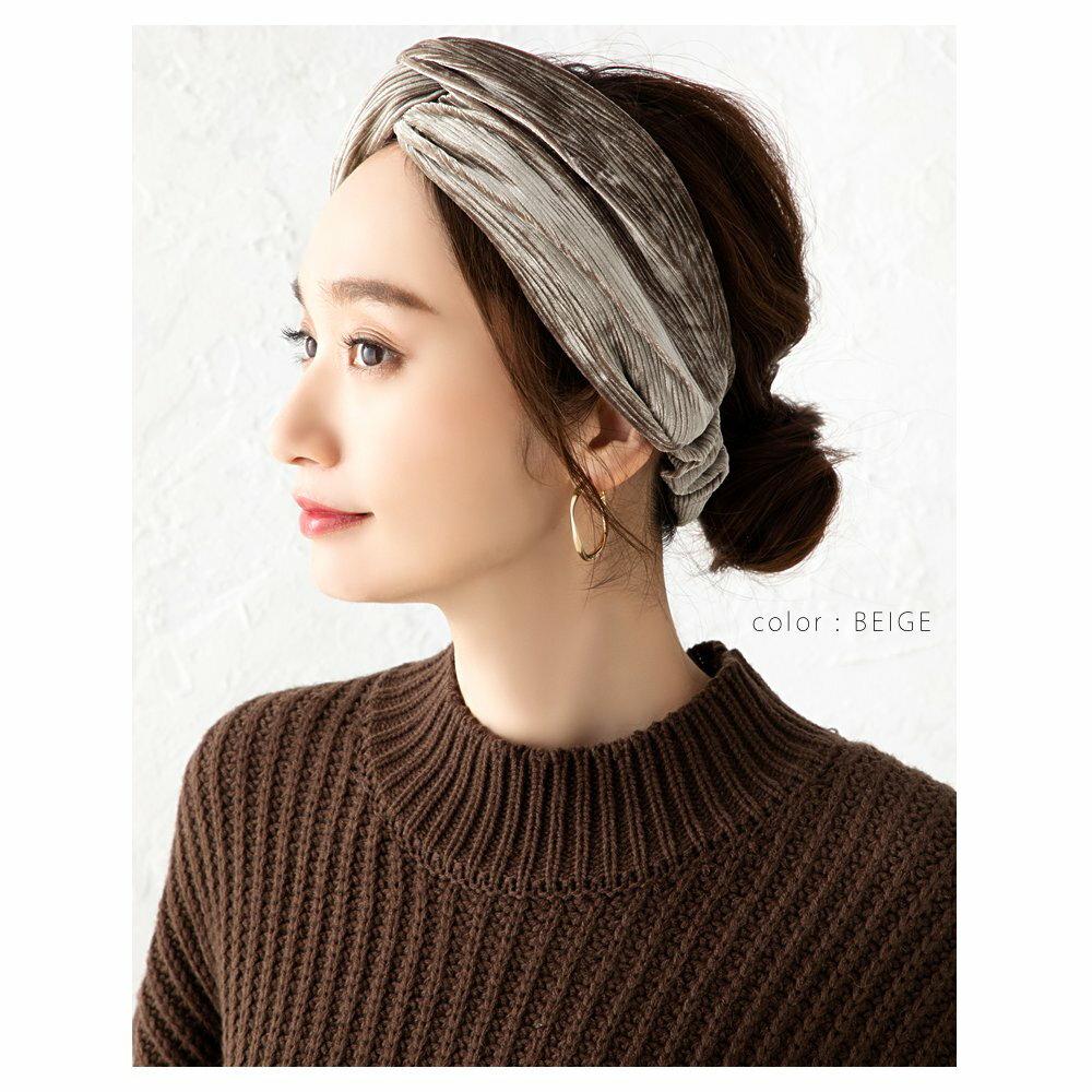 日本Cream Dot  /  秋冬質感絨面髮帶  /  a04239 /  日本必買 日本樂天代購  /  件件含運 5