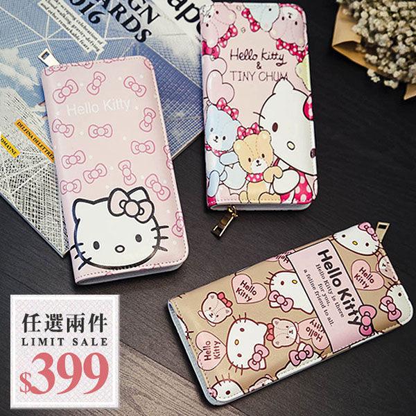 Kitty長夾-2016新款超可愛卡通Hello Kitty 米奇米妮萬用大容量手拿長夾【AN SHOP】