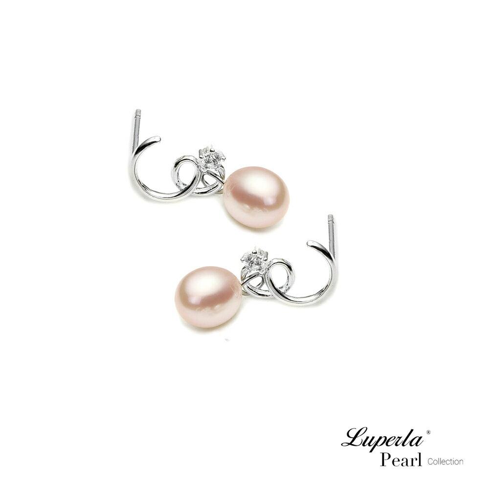 大東山珠寶 TRINITY 925純銀垂墜珍珠耳環 極致粉色 2