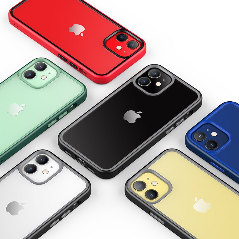 領券最高折800↘OMIA iPhone 12系列 絢彩雙色背透防摔手機殼 五色任選