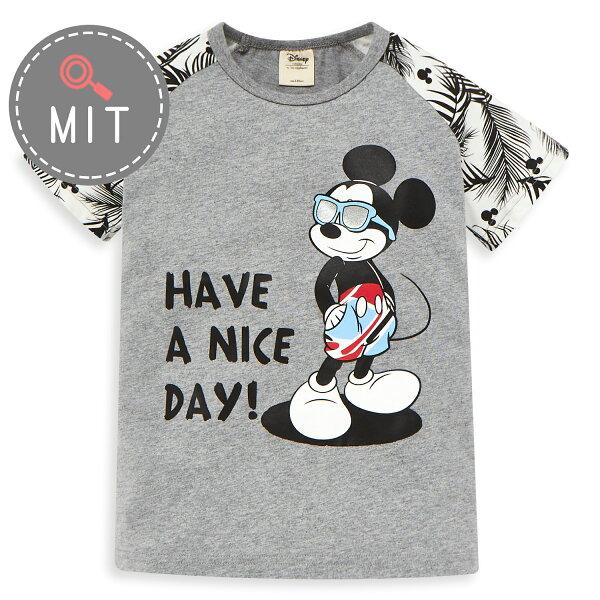 Disney米奇系列歡樂海灘拉克蘭上衣-麻花灰