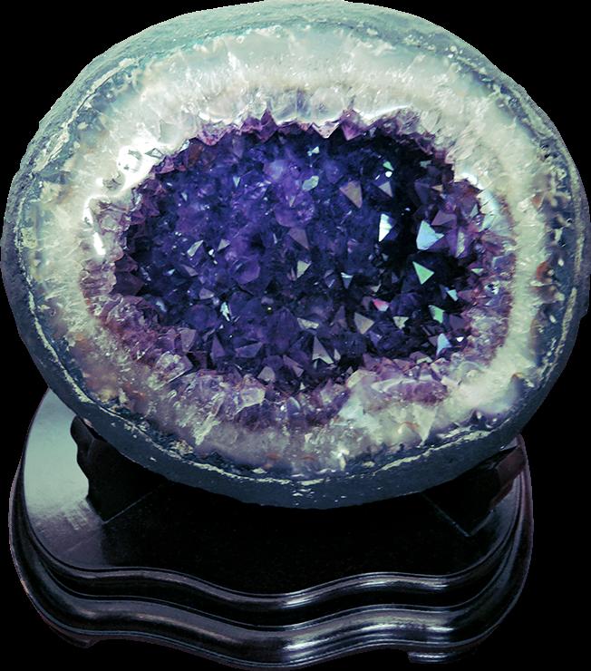 ((已售)) 頂級天然烏拉圭紫晶水洞-內含鈦晶結晶體9.3kg(L16JKN015)
