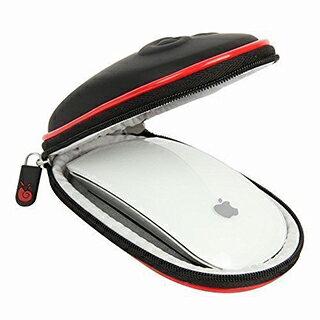 <br/><br/>  【美國代購】Hermitshell:Apple Magic Mouse 一、二代專用保護Case 含掛勾 (黑紅)<br/><br/>