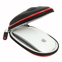 Apple 蘋果商品推薦【美國代購】Hermitshell:Apple Magic Mouse 一、二代專用保護Case 含掛勾 (黑紅)