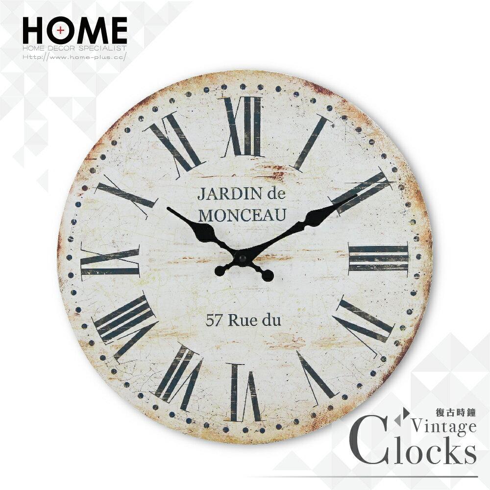 HOME+ 復古時鐘 羅馬城鎮 靜音機芯 Zakka掛鐘 壁鐘 無框畫 雜貨 鄉村 田園 工業 室內設計 裝潢 裝飾 擺飾