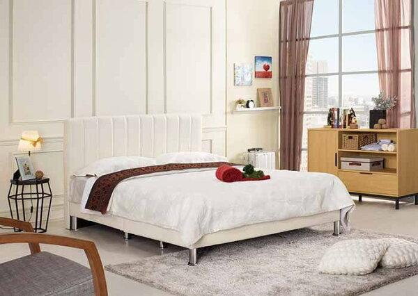 【尚品傢俱】CM-157-4多琳5尺雙人床(米白皮,另有六尺)