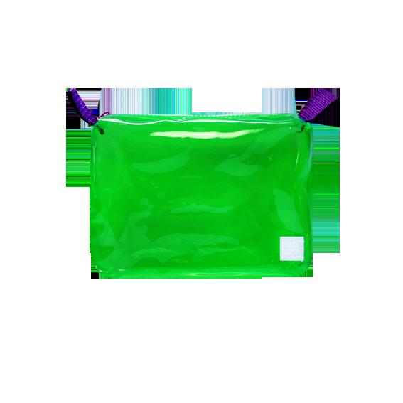 DoctorJ 透明收納包 綠色