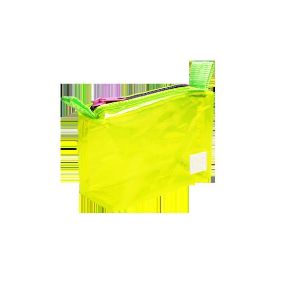 DoctorJ 透明小收納包 黃色