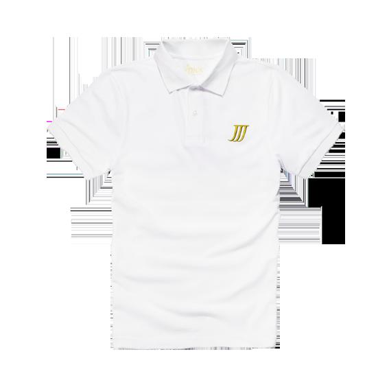 Jpick 個性造型POLO衫 白 (男/女款皆有)
