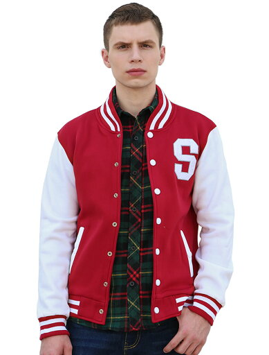 Unique Bargains Men's Long Sleeve Letter Pattern Button Front Baseball Jacket Red (Size L / 42) 21cf214354c99ab62165d53b54db2e4f