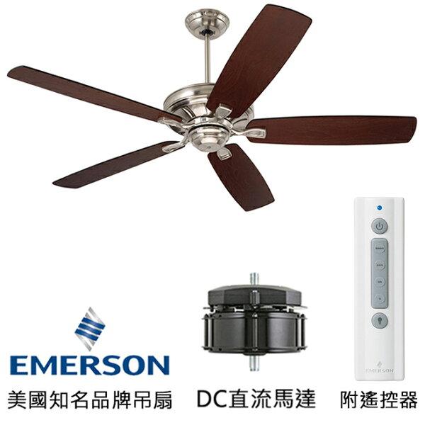 [topfan]EmersonCarreraGrandeEco54英吋能源之星認證DC直流馬達吊扇(CF788BS_G54WA)刷鐵色(適用於110V電壓)