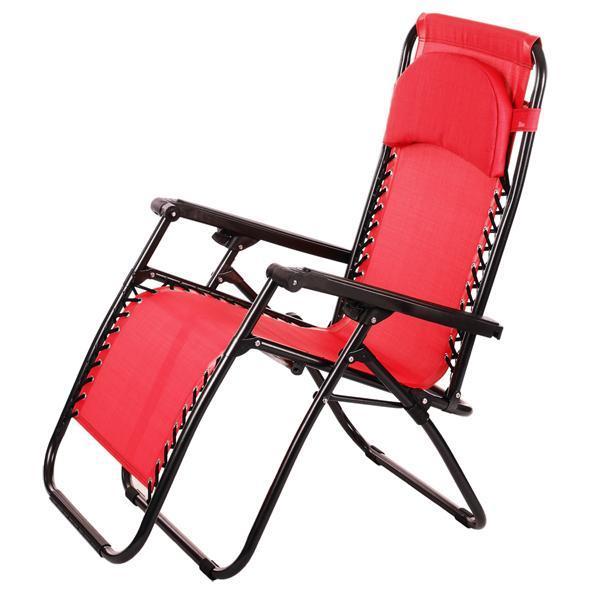 Folding Zero Gravity Reclining Lounge Portable Garden Beach Camping Outdoor Chair 0
