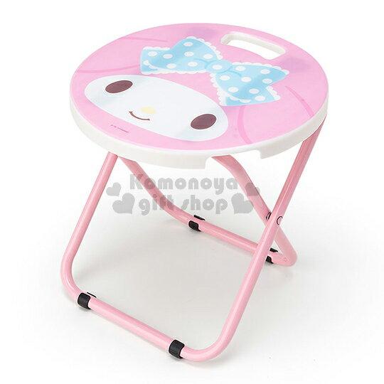 〔〔小禮堂〕美樂蒂 折疊椅《粉白.大臉.圓型》可折疊收納.春夏野餐系列
