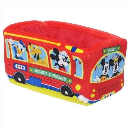 X射線【C067091】米奇Mickey巴士絨毛收納盒,飾品盒收納盒小物置物架桌上收納筆筒
