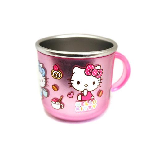 X射線~C059804~Hello Kitty粉色304不鏽鋼隔熱杯 甜點 210ml韓國