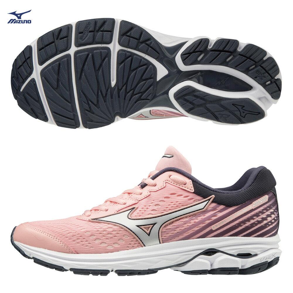 WAVE RIDER 22 一般型 女款慢跑鞋 J1GD183174(粉紅X銀白)【美津濃MIZUNO】 0